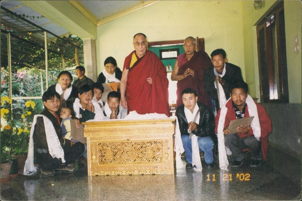 Sampa Lundup with HH Dalai Lama, 2002